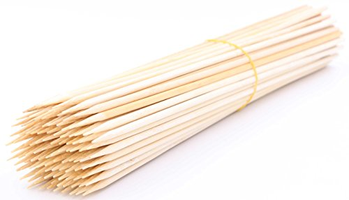 "LeBeila Bamboo Skewers 12 Inch 100PCS BBQ Skewers Bamboo Grill Shish Kabob Skewers 100% Natural Bamboo Sticks for Barbecue, Marshmallow, Fondue, Cooking, Grilling & Kabob (100, 11.8"")"