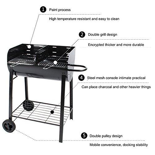 ROBAG Barrel Grill Charcoal Bringer BBQ Home Garden Portable Folding Multifunctional Barbecue