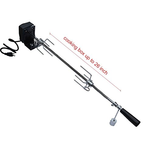 onlyfire 6019 Universal Rotisserie Kit for Most 2- and 3- Burner Grills(Excluding Weber Gas Grill, Char-Griller 5050 Duo), Hexagon Spit Rod 32 1/2″, Electric Motor 110V