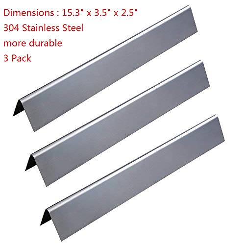 GasSaf 304 Stainless Steel Flavorizer Bars Replacement for Weber Spirit 200 and E210 Series Gas Grills (L15.3 x W3.5X T2.5 inch)(3- Pack)