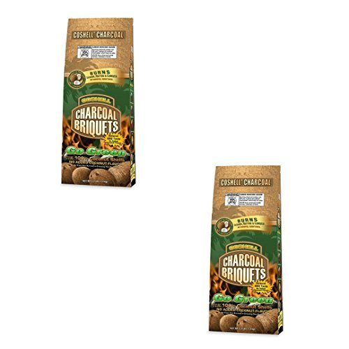 Coshell Charcoal COSR33 Coconut Briquettes, 3.3-Pound (2)