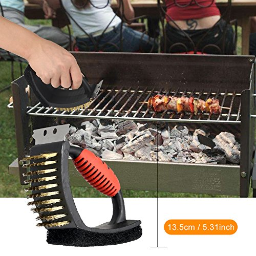 BBQ Grill Tools Set with Bag,7 Pieces Heavy Duty Stainless Steel Barbecue Grilling Utensils Grill Accessories for Barbecue Spatula, Tongs, Fork, Knife ,Meat Claws and Basting Brush,Cleaning Brush