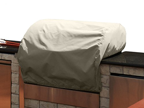 CoverMates – Built–In Grill Cover – 34W x 30D x 18H – Elite Collection – 3 YR Warranty – Year Around Protection – Khaki