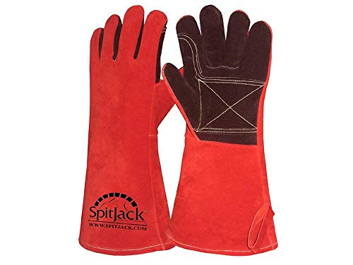 SpitJack Deluxe Heat Resistant Insulated Thermal Gloves for High Heat Grilling and BBQ, Barbecue Grilling Gloves for Fireplace and Hearth