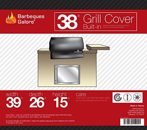 Barbeques Galore 38″ Universal Cover for Built-in Grill