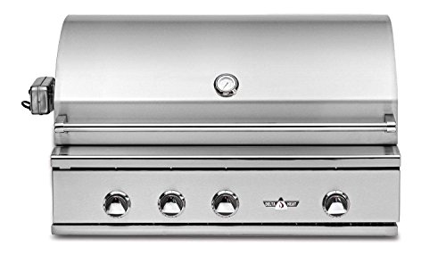 Delta Heat Built-in Grill with Infrared Rotisserie and Sear Zone (DHBQ38RS-C-N), 38-Inch, Natural Gas