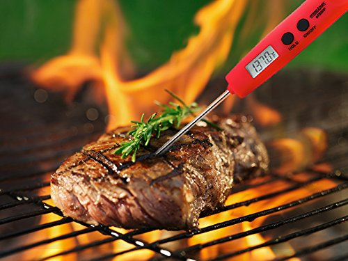 Digital Meat Thermometer Instant Read Cooking Thermometer – Ultra Fast, Accurate, and Water Resistant – Long Probe – Best for BBQ, Grilling, Turkey