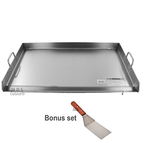 Griddle Grill Stainless Steel Plancha BBQ Heavy Duty Comal Outdoor Stove New