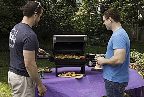 Cuisinart CGG-200B Portable Outdoor Tabletop Propane Gas Grill, 12000 BTU, Black