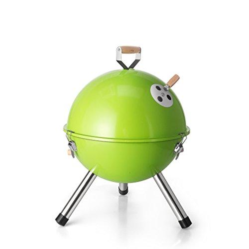 DE.KITCHEN&HIFUN Green Phoenix 12-Inch Portable Grills,Mini Indoor Outdoor Tabletop Charcoal Grills,German Korean Small Couple Camping BBQ