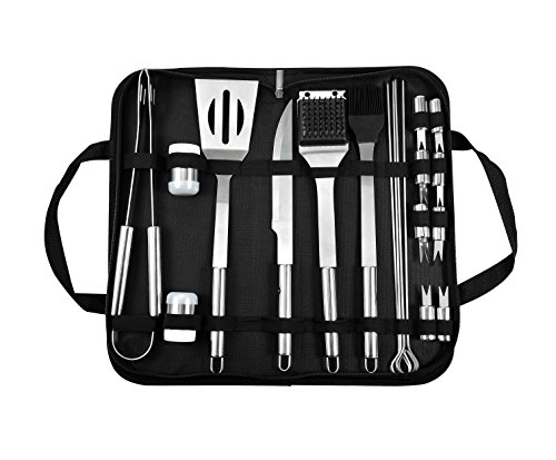 BOHK BBQ Grill Tools Set -20 Piece Heavy Duty Stainless Steel Barbecue Grilling Utensils & Accessories with Storage Case – Complete Outdoor Grill Accessories Kit Gift for Men Women