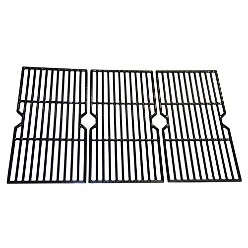 Hongso PCB003 Porcelain Coated Cast Iron Grill Grid Grates Replacement for Charbroil 463344015, 466344015, 466642616, Nexgrill 720-0864 Gas Grill, G467-0002-W1, One 3-pc Cooking Grid Set