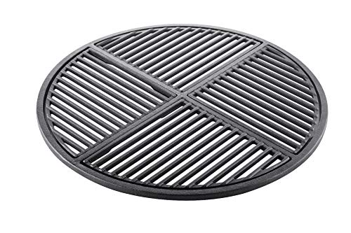 Cast Iron Grate, Pre Seasoned, Non Stick Cooking Surface, Modular  Fits 22.5″ Grills