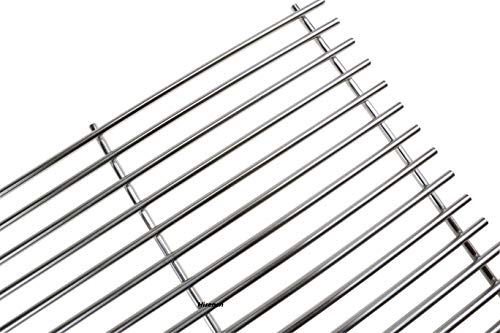 Hisencn Set of 2 Solid Stainless Steel Cooking Grids Grill Grate Replacement Parts for Master Forge 1010037, Nexgrill 720-0719BL, 720-0773, Charbroil, Kenmore, Tera Gear Gas Grill Models