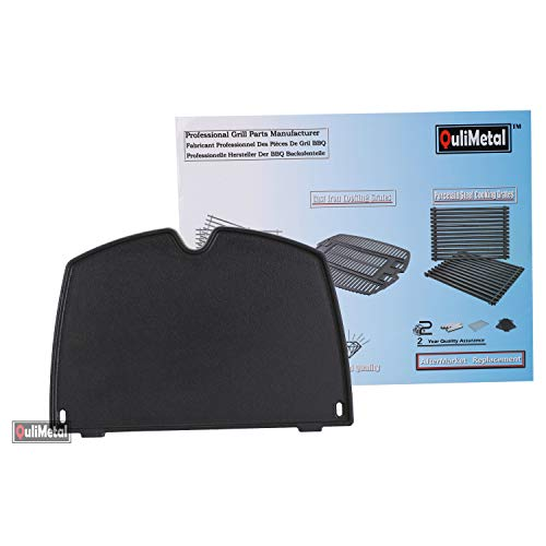 QuliMetal 6558 Cast Iron Griddle Accessories for Weber Q1000 Series Gas Grill