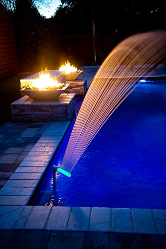Swimming Pool Accessories Waterfall Fountain – Cools Warm Pool Water  Temperatures, Fits Most 1.5″ InGround & Above Ground Return Jets, Sprinkler  Head ...