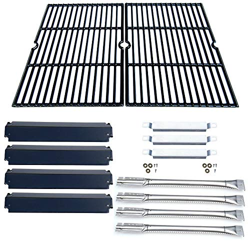 Direct store Parts Kit DG166 Replacement Charbroil Commercial Gas Grill 463268606,463268007 Repair Kit (SS Burner + SS carry-over tubes + Porcelain Steel Heat Plate + Porcelain Cast Iron Cooking Grid)