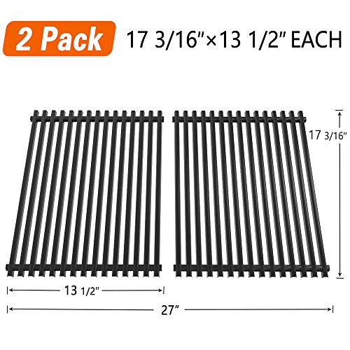 SHINESTAR Grill Grate 17 3/16″ Replacement Parts for Nexgrill 720-0697E, Grill Master 720-0697, Uniflame GBC091W, Tera Gear, Porcelain Enameled Steel Cooking Grids (17 3/16″ x 13 1/2″ Each, 2 Pack)