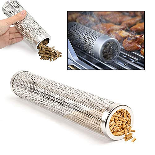 BBQ Stainless Steel Accessories Meshes Round Sqaure Perforated Mesh Smoker Tube Barbecue Grill Generator Smoker Filter Tool