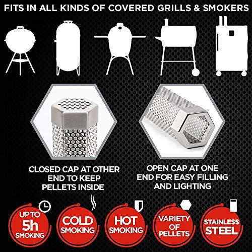 LXB Pipe Piercing, Stainless Steel Barbecue Smoke Generator, Adding Smoke 12″ Rectangular for Baked Food