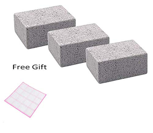 Clean Stone Grill Stone Pumice Stone Cleaning Clean Brick Grill Brick Grill Cleaner Griddle Cleaner Griddle Stone Cleaning Block Reusable Ecological Grill Cleaning Brick For 3 Pack