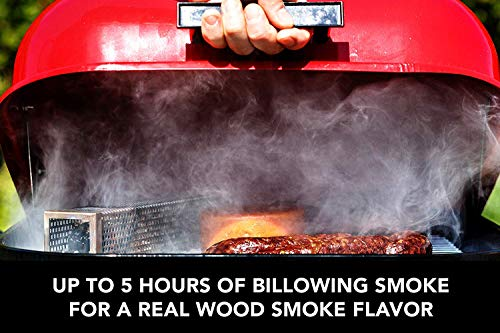 G.a HOMEFAVOR Square Smoker Tube Pellet Smoker Tube 12″ Stainless Steel Barbecue Smoking Pipe for Gas Grill Wood Chips Work with Electric, Gas, Charcoal Grills or Smokers