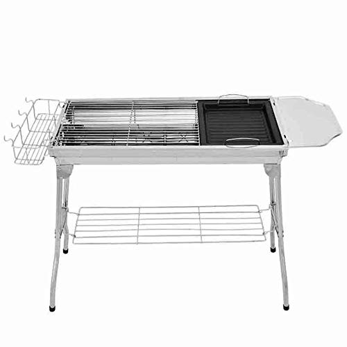 Zr Stainless Steel Folding Grill, Outdoor Camping BBQ, Easy to disassemble Portable Charcoal Grill, (Style : A)