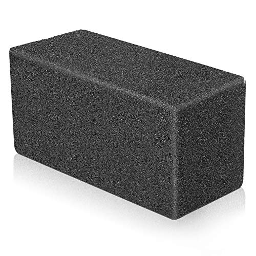 Elaziy Grill Cleaning Bricks Pumice Stone De-Scaling Griddle Grilling Blocks for BBQ Clean and Rust Remove,Black