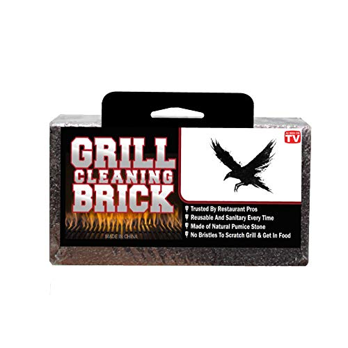 Grill Brick | Cleaning | Stone | Grills | BBQ | Griddle | Block | Commercial | Griddle | Large | Sanitation| Gas Grill | Grilling Cleaner | BBQ | Pumice | Bristle-Free | 8X4X3.5 Inch Brick | Flat Top