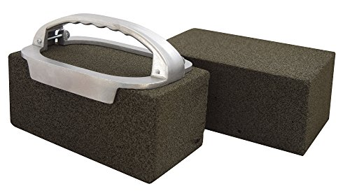 JA Kitchens Grill Brick Holder and Two Grill Bricks – Cleans Griddles and Grills