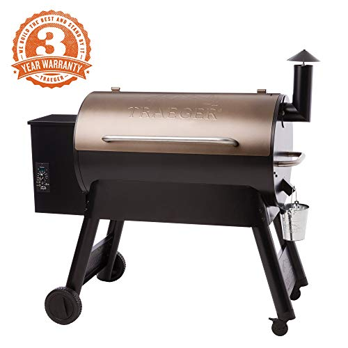 Traeger Grills TFB88PZBO Pro Series 34 Pellet Grill and Smoker, 884 Sq. In. Cooking Capacity, Bronze