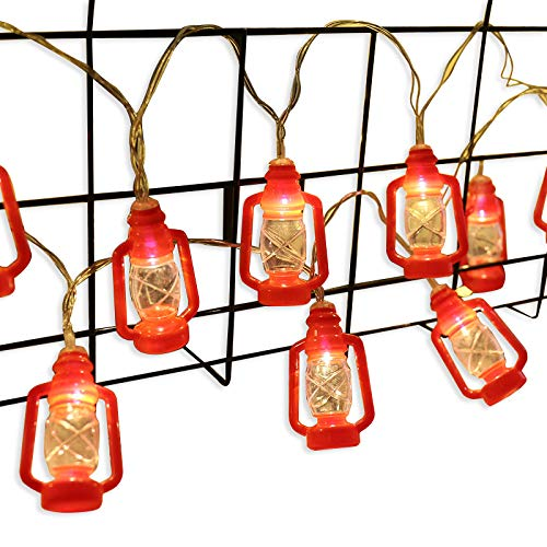 AceList ZONYEO Red Kerosene String Lights for Camping, Bedroom, Living Room, Novelty Retro Lights Décor – 20 LED