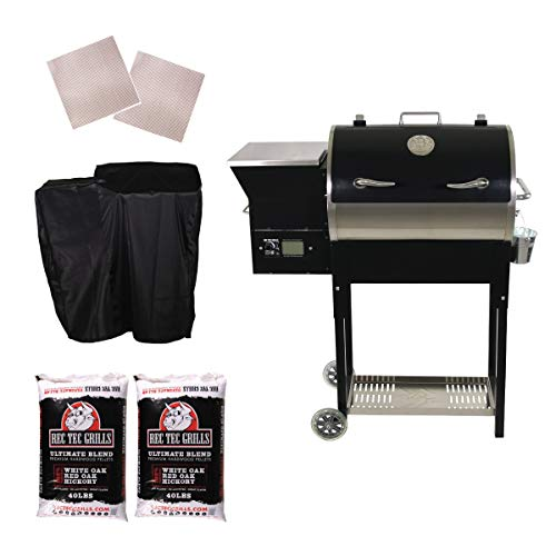 REC TEC Grills | RT-340 | Bundle | WiFi Enabled | Portable Wood Pellet Grill | Built in Meat Probes | Stainless Steel | 20lb Hopper | 2 Year Warranty | Hotflash Ceramic Ignition System