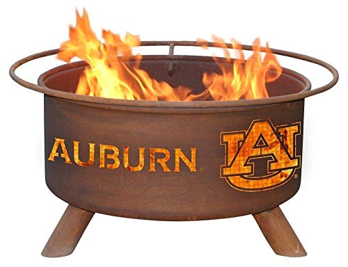 Auburn University Tigers Portable Steel Fire Pit Grill