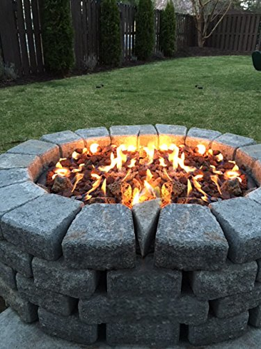 Stanbroil LP Propane Gas Fire Pit Stainless Steel Burner Ring Installation Kit, 18-inch