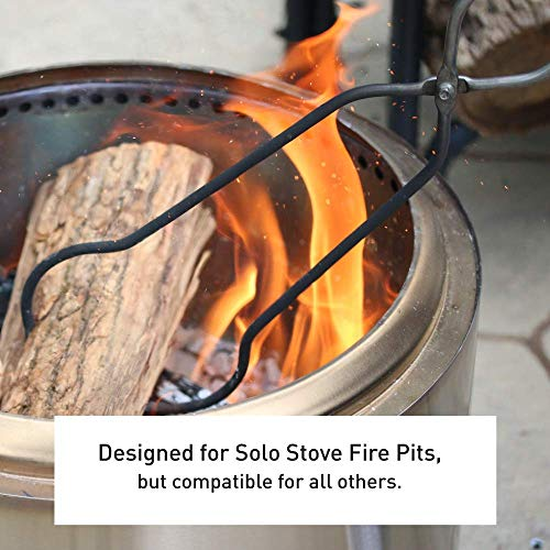 Solo Stove Fire Pit 36.5 inch Poker and 32 inch Grabber Set – Heavy Duty Stainless Steel Accessories | Outdoor Campfire Tongs and Stoker | Bonfire Log Tools | Fireplace Combo Set