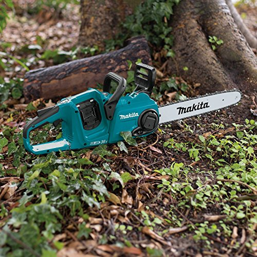 Makita XCU03Z 18V X2 (36V) LXT Lithium-Ion Brushless Cordless 14″ Chain Saw, Tool Only, Teal