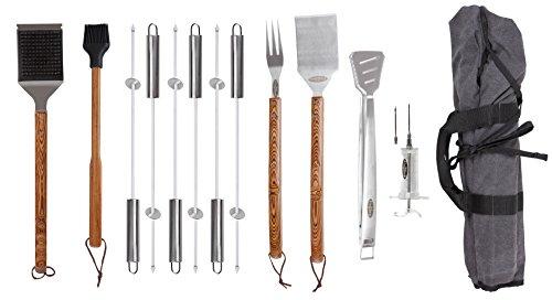 Fire Sense 61932 Elite Stainless Steel BBQ Tool Set