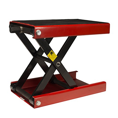 Dragway Tools 1100 LB Wide Deck Motorcycle Center Scissor Lift Jack Hoist Stand Bikes ATVs