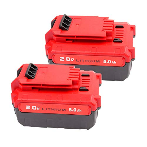 2Pack 20V 5.0Ah Replacement for Porter Cable 20V Lithium-ion Battery PCC685L PCC680L PCC681L PCC682L PCC685LP PCC682 Cordless Power Tool Battery