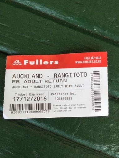 ▲Rangitoto Island 船票