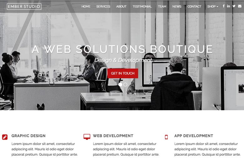 Ember WordPress Theme