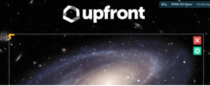 upfront page builder