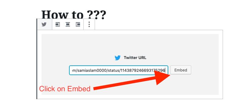 Embed actual tweet in WordPress blog post