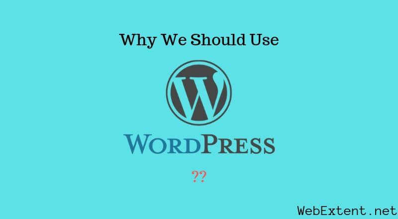 Why we should use WordPress