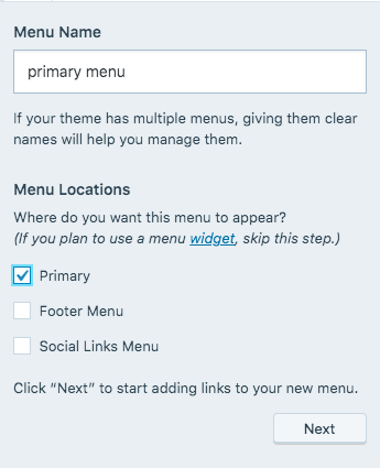 create-your-first-menu-wordpress-step-2