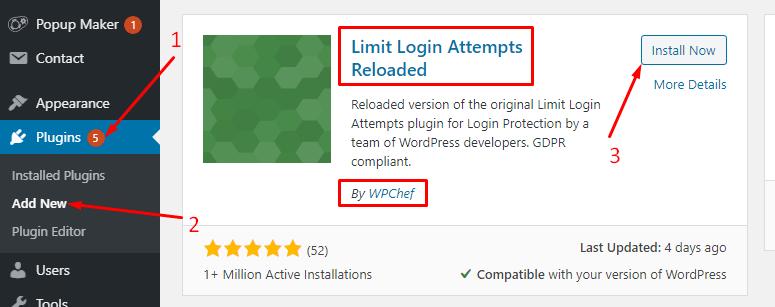 limit login 1