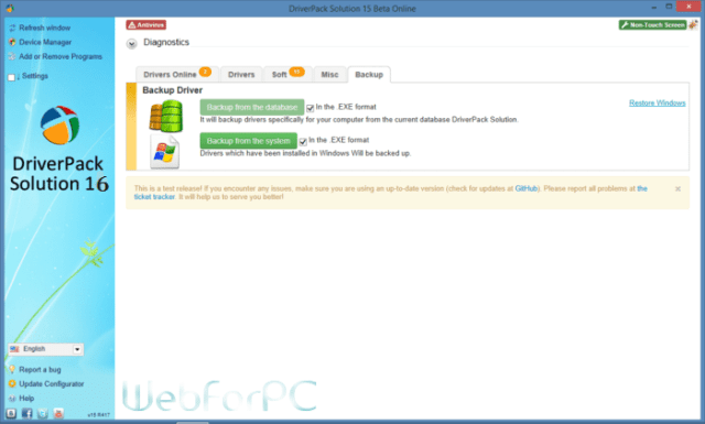 DriverPack Solution 2016 ISO Free Download