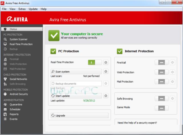 Avira Free Antivirus 15.0.17.273 Download