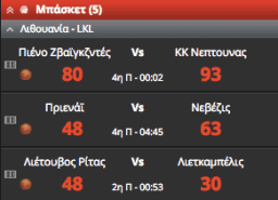 novibet livescore αποτελέσματα αγώνες
